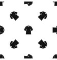 raglan tshirt pattern seamless black vector image vector image