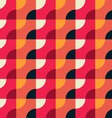 Retro Geometric Red Pattern vector image vector image