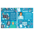 rheumatology therapy and doctor vector image