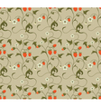 Seamless patterns with strawberries vector image vector image