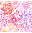 Seamless rainbow floral background Copy that vector image vector image