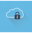 Secure digital cloud with lock vector image vector image