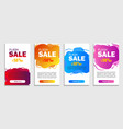 set abstract liquid shapes on isolated vector image vector image