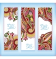 set of decorative flower template banner card web vector image vector image