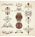 Set of ornamental design elements vector image vector image
