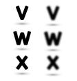 sharp and unsharp alphabet letters font vector image