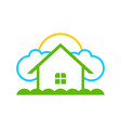 simple dream home logo symbol design vector image vector image