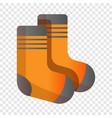 ski socks icon cartoon style vector image vector image