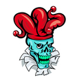 skull joker cartoon vector image vector image
