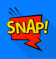 snap icon pop art style vector image vector image