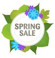 spring sale symbol vector image vector image