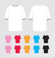 t-shirt mock-up designed icons set vector image