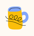 tea or coffee cup cartoon doodle stock icon in vector image vector image