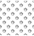 tea pot pattern seamless vector image