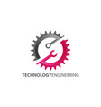 technology engineering logo design vector image