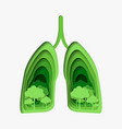 tree in the green healthy lungs abstract paper vector image vector image