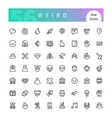 weird line icons set vector image vector image