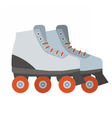 White Roller Blades vector image