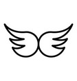 wings icon outline style