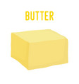 yellow butter barorganic farm milk product vector image