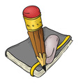 Notebook Pencil and Eraser vector image
