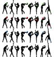 rhythmic gymnastics with ball vector image