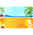 two summer banners vector image