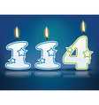 Birthday candle number 114 vector image vector image