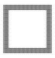 black dot contour square icon vector image