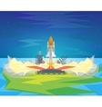 Cartoon Start Space Shuttle vector image