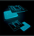central processing unit vector image vector image