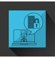 character draw movie lock technology social media vector image