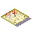 children playground equipment flat vector image vector image