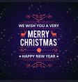 christmas card with snow background vector image vector image