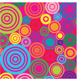 circles on pink background vector image vector image