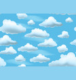 clouds on blue sky seamless pattern vector image vector image