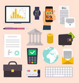 collection business workflow items and elements vector image vector image