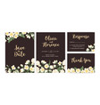collection wedding inviting cards with floral vector image vector image