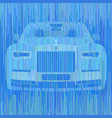 colorful stripes in blue shades form the car vector image vector image