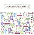 concept of sport equipment background vector image vector image