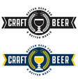 craft beer banner style badge or label vector image vector image