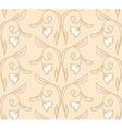 Creamy seamless floral pattern