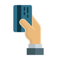 credit card payment flat icon business finance vector image vector image