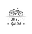 cycle club logotype vector image vector image