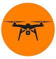 drone on an orange background vector image