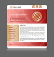 easy customizable website template vector image vector image