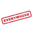 Everywhere Text Rubber Stamp
