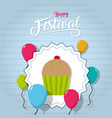 happy festival card vector image vector image