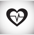 heart icon on white background for graphic and web vector image