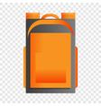 hiking backpack icon cartoon style vector image